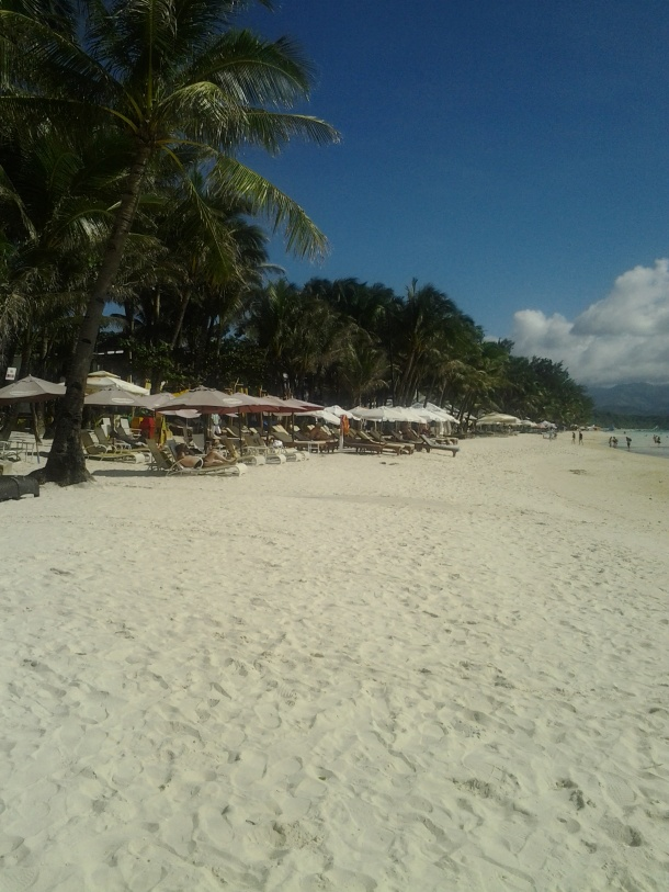 Boracay's Beachfront in the Afternoon