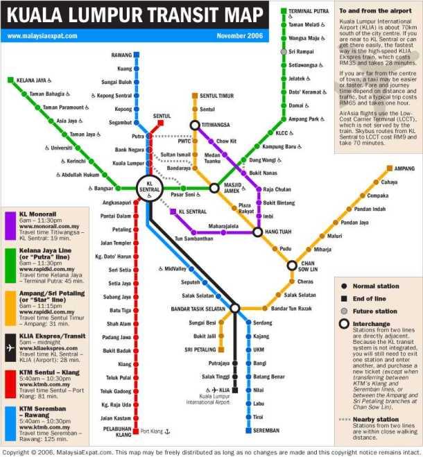 Kuala-Lumpur-Underground-Map